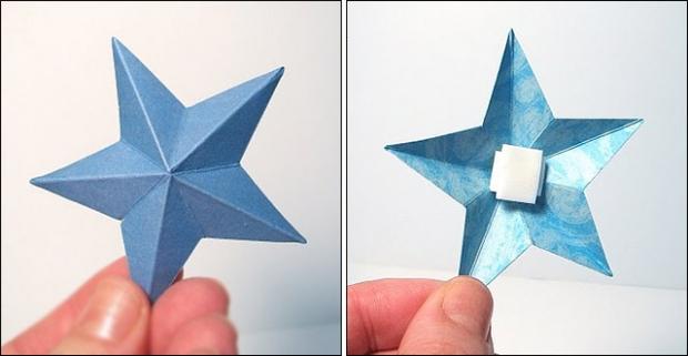Estrela de papel em 3D – Panelaterapia