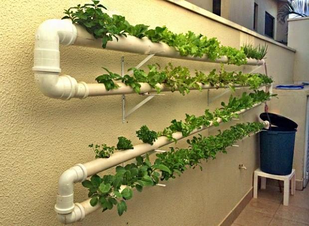Como fazer uma horta hidrop nica panelaterapia for Mesas de cultivo grandes