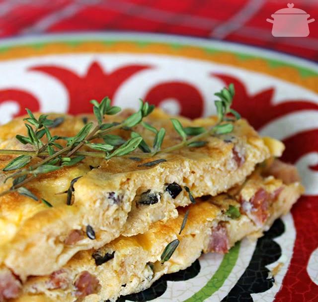 Omelete de Queijo e Linguiça Defumada