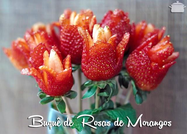 Buquê de Flores de Morangos