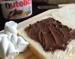 sanduiche de nutella