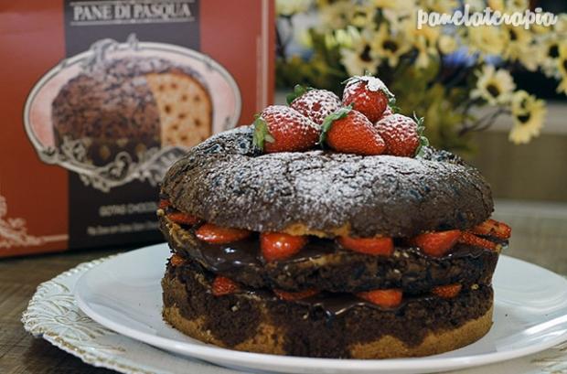 Naked Cake de Morango e Chocolate