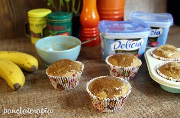 Muffin Integral de Banana e Especiarias