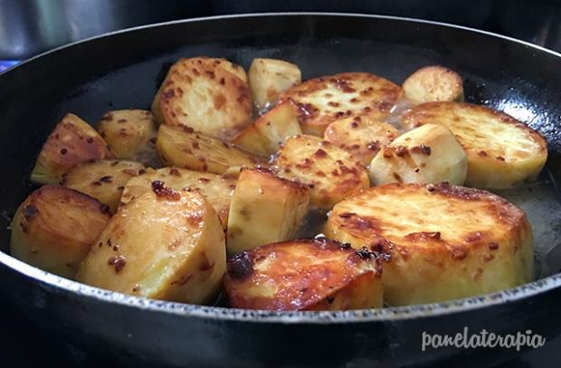 Batata-doce Dourada com Alho