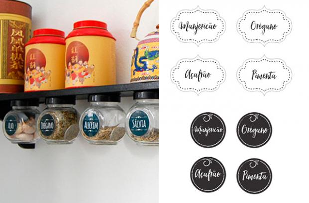 Materiais gratuitos para imprimir, organizar e decorar sua cozinha