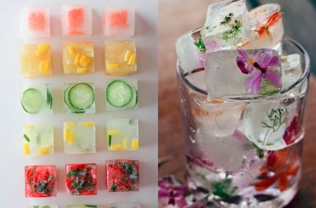 Como incrementar suas bebidas com gelos decorados